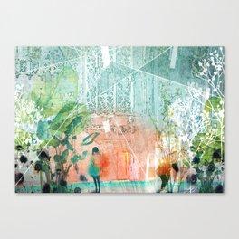 ArchiCollage - Secret Garden Canvas Print