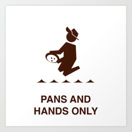 Pans and Hands Art Print