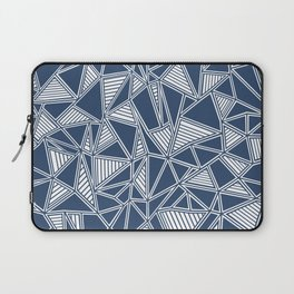 Abstract Outline Lines Navy Laptop Sleeve