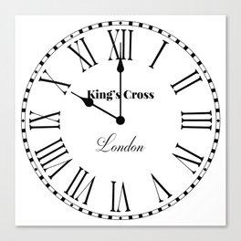 King's Cross Clock Canvas Print