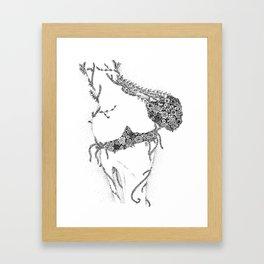 Anatomy Series: Knee Flowers Framed Art Print