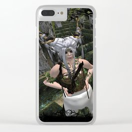 Conquer The Labyrinth Clear iPhone Case
