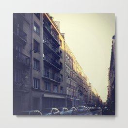 Rue Lamarck Sunset in Paris Metal Print
