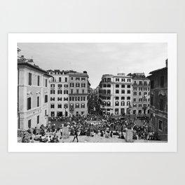 Spanish Square (Rome) Art Print