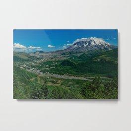 Landscape Mt. St. Helens in Summertime Metal Print