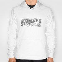 starbucks Hoodies featuring Vintage Starbucks Logo by Kayla Eber