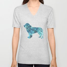 Newfoundland Dog Unisex V-Neck