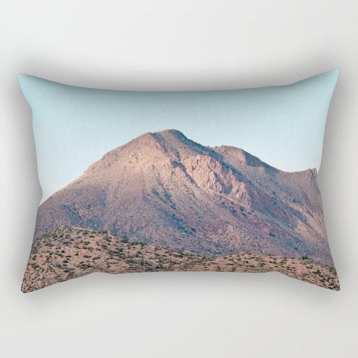 the mountain layer Rectangular Pillow