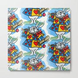 Follow the white rabbit. Metal Print