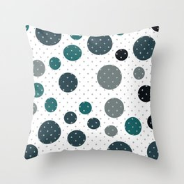 Scandinavian dots pattern design Throw Pillow