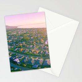 Aerial view of the beautiful Mornington Peninsula suburbs at sunrise. Melbourne, Australia Stationery Cards