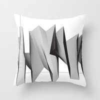 dinosaurs Throw Pillows featuring Dinosaurs by The New Minimalist