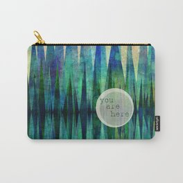 Here abstract art by Ann Powell Carry-All Pouch