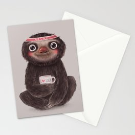 Sloth I♥yoga Stationery Cards
