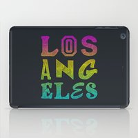 los angeles iPad Cases featuring Los Angeles by Fimbis