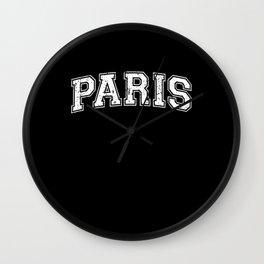 Paris City Capital of France Wall Clock