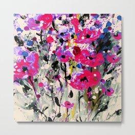 Floral Expression 1l by Kathy Morton Stanion Metal Print