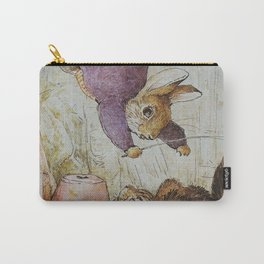 Bunny vs Kitty Carry-All Pouch