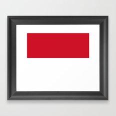 Flag of Monaco Framed Art Print