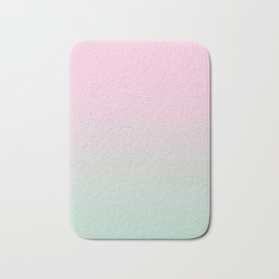 Keelee - ombre pastels minimal canvas art painting sunset nursery baby room art Bath Mat