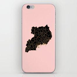 Uganda map iPhone Skin