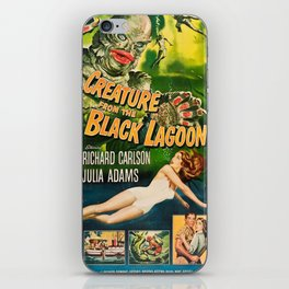 Creature from the Black Lagoon, vintage horror movie poster iPhone Skin