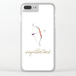 Watercolor Sagittarius Bow & Arrow Clear iPhone Case