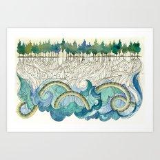 Leviathan's Roots Art Print
