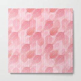 Boho Blush and Beads - Pink Metal Print