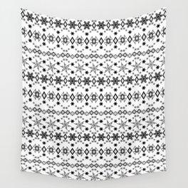 White black Christmas ornament white Wall Tapestry