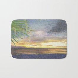 Beautiful Sunset at the Beach Bath Mat