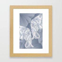 Stone Elephant Framed Art Print