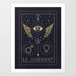Le Jugement or The Judgement Tarot Art Print