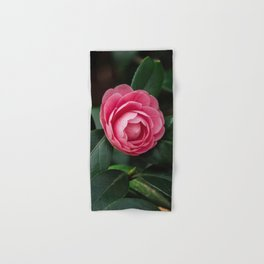Blooming Pink Perfection Camellia Japonica Hand & Bath Towel