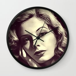 Jane Greer, Vintage Actress Wall Clock