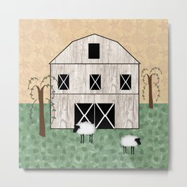 Primitive Barn Metal Print