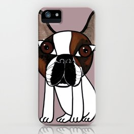 Joey, the french bulldog that thinks he's human iPhone Case