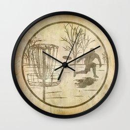disc golfer Wall Clock