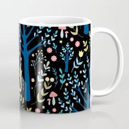Black unicorn garden Coffee Mug