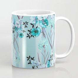 Floral Love X (Blue) Coffee Mug