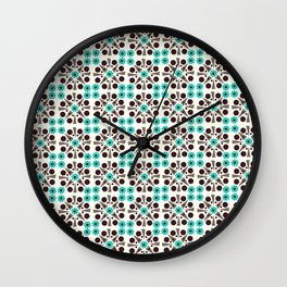 Gem Tiles Turquoise Wall Clock