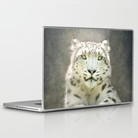 snow leopard Laptop & iPad Skins featuring Snow Leopard by Pauline Fowler ( Polly470 )