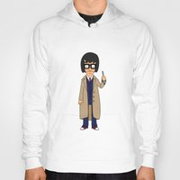 tina crespo Hoodies featuring Doctor Tina, Time Lord by GrahamBailey