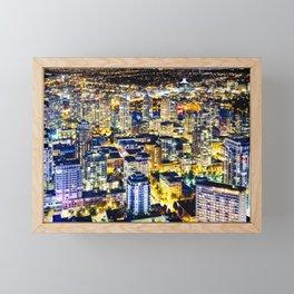 Voyeuristic 1560 Vancouver Cityscape Golden Luminous Yaletown Vancouver Framed Mini Art Print