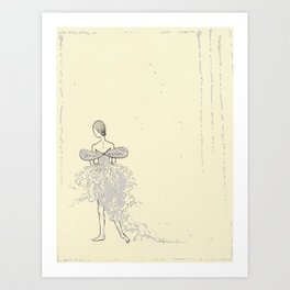 Faerie Dancer - Original Ink and Oil Drawing Art Print