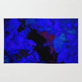 A dark blue crash Rug