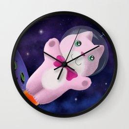 Captain Space Kitty Of The 24th Century Wall Clock