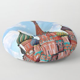 St. Basil's Cathedral (color) Floor Pillow