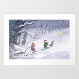 L'Abri - the storm Art Print