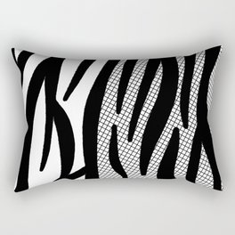 Timeless Zebra Pattern Abstract Rectangular Pillow
